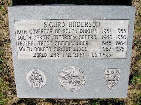 ANDERSON, SIGURD - Day County, South Dakota | SIGURD ANDERSON - South Dakota Gravestone Photos
