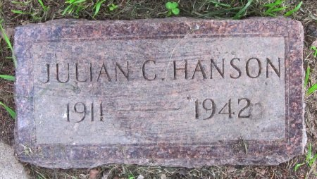 HANSON, JULIAN C. - Day County, South Dakota | JULIAN C. HANSON - South Dakota Gravestone Photos