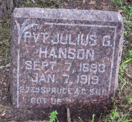 HANSON, JULIUS G. - Day County, South Dakota | JULIUS G. HANSON - South Dakota Gravestone Photos