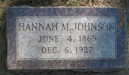 JOHNSON, HANNAH M. - Day County, South Dakota | HANNAH M. JOHNSON - South Dakota Gravestone Photos