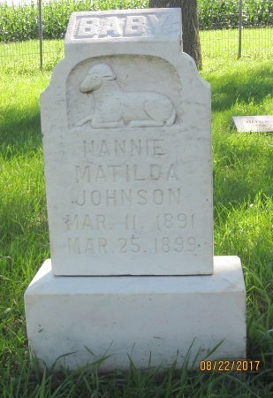 JOHNSON, NANNIE MATILDA - Day County, South Dakota | NANNIE MATILDA JOHNSON - South Dakota Gravestone Photos