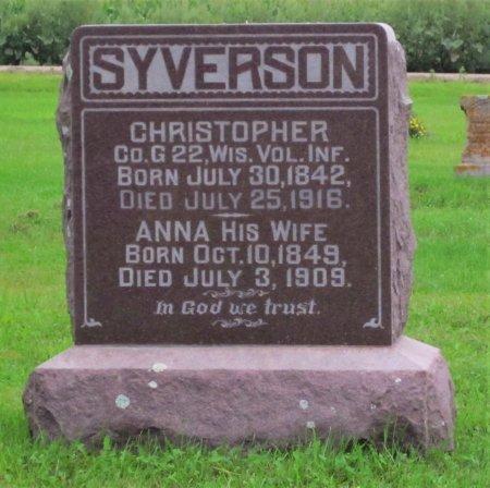 SYVERSON, ANNA - Day County, South Dakota | ANNA SYVERSON - South Dakota Gravestone Photos