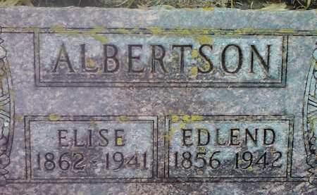 ALBERTSON, EDLEND - Deuel County, South Dakota | EDLEND ALBERTSON - South Dakota Gravestone Photos