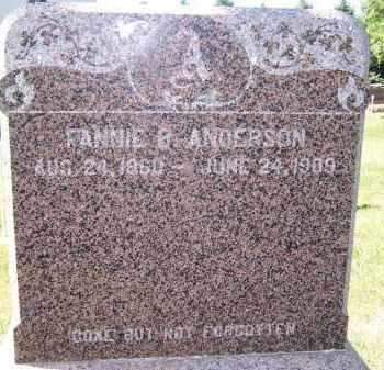 ANDERSON, FANNIE B. - Deuel County, South Dakota   FANNIE B. ANDERSON - South Dakota Gravestone Photos