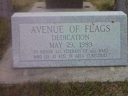 *AVENUE, FLAG DEDICATION PLAGUE - Deuel County, South Dakota   FLAG DEDICATION PLAGUE *AVENUE - South Dakota Gravestone Photos