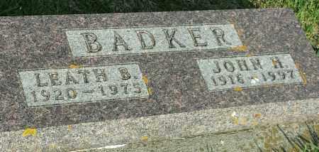 BADKER, LEATH B - Deuel County, South Dakota | LEATH B BADKER - South Dakota Gravestone Photos