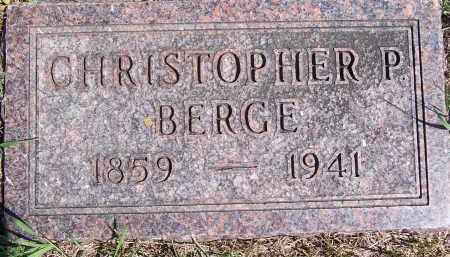 BERGE, CHRISTOPHER P. - Deuel County, South Dakota   CHRISTOPHER P. BERGE - South Dakota Gravestone Photos