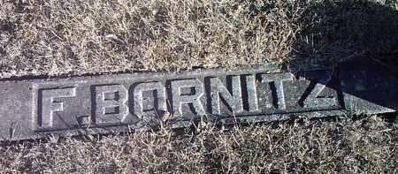 BORNITZ, F. - Deuel County, South Dakota   F. BORNITZ - South Dakota Gravestone Photos