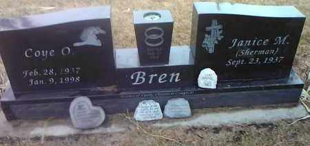 SHERMAN BREN, JANICE M. - Deuel County, South Dakota | JANICE M. SHERMAN BREN - South Dakota Gravestone Photos