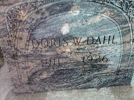 DAHL, DORIS W. - Deuel County, South Dakota | DORIS W. DAHL - South Dakota Gravestone Photos
