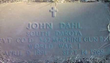 DAHL, JOHN (MILITARY) - Deuel County, South Dakota   JOHN (MILITARY) DAHL - South Dakota Gravestone Photos