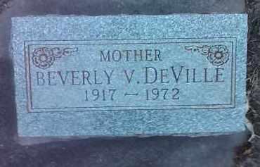 DEVILLE, BEVERLY V. - Deuel County, South Dakota | BEVERLY V. DEVILLE - South Dakota Gravestone Photos