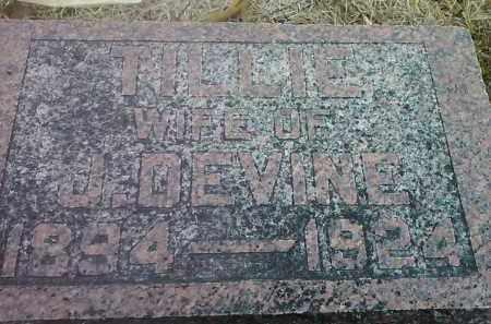 DEVINE, TILLIE - Deuel County, South Dakota | TILLIE DEVINE - South Dakota Gravestone Photos