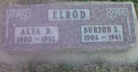 ELROD, BURTON S - Deuel County, South Dakota | BURTON S ELROD - South Dakota Gravestone Photos