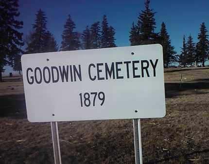 *ENTRANCE SIGN, GOODWIN CEMETERY - Deuel County, South Dakota   GOODWIN CEMETERY *ENTRANCE SIGN - South Dakota Gravestone Photos