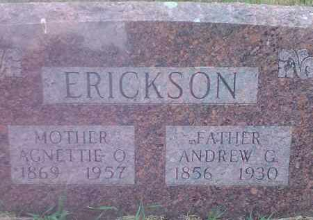 ERICKSON, ANDREW G - Deuel County, South Dakota | ANDREW G ERICKSON - South Dakota Gravestone Photos