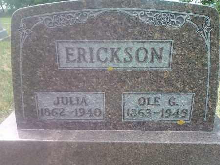 ERICKSON, OLE G - Deuel County, South Dakota | OLE G ERICKSON - South Dakota Gravestone Photos