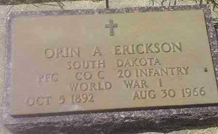 ERICKSON, ORIN A - Deuel County, South Dakota   ORIN A ERICKSON - South Dakota Gravestone Photos