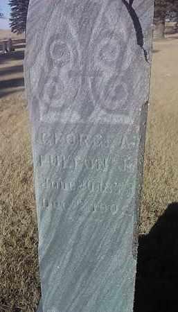 FULTON JR, GEORGE A. - Deuel County, South Dakota   GEORGE A. FULTON JR - South Dakota Gravestone Photos