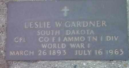 GARDNER, LESLIE W. (MILITARY) - Deuel County, South Dakota | LESLIE W. (MILITARY) GARDNER - South Dakota Gravestone Photos