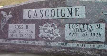 BENSHOOF GASCOIGNE, LORETTA M. - Deuel County, South Dakota | LORETTA M. BENSHOOF GASCOIGNE - South Dakota Gravestone Photos