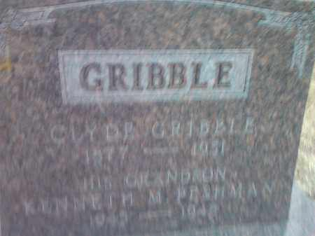 GRIBBLE, CLYDE - Deuel County, South Dakota | CLYDE GRIBBLE - South Dakota Gravestone Photos
