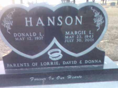 HANSON, MARGIE L. - Deuel County, South Dakota   MARGIE L. HANSON - South Dakota Gravestone Photos