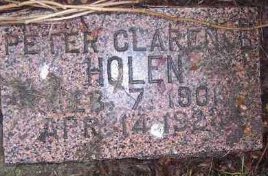 HOLEN, PETER CLARENCE - Deuel County, South Dakota   PETER CLARENCE HOLEN - South Dakota Gravestone Photos