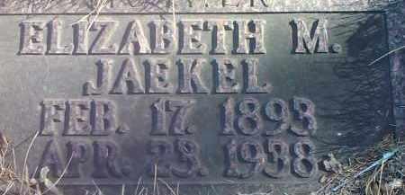 JAEKEL, ELIZABETH M. - Deuel County, South Dakota | ELIZABETH M. JAEKEL - South Dakota Gravestone Photos