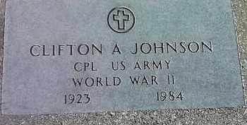 JOHNSON, CLIFTON A. (MILITARY) - Deuel County, South Dakota | CLIFTON A. (MILITARY) JOHNSON - South Dakota Gravestone Photos