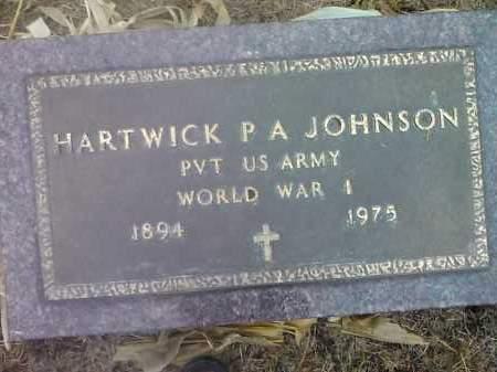 JOHNSON, HARTWICK P A (MILITARY) - Deuel County, South Dakota | HARTWICK P A (MILITARY) JOHNSON - South Dakota Gravestone Photos