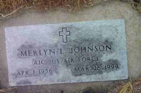 JOHNSON, MERLYN L. (MILITARY) - Deuel County, South Dakota   MERLYN L. (MILITARY) JOHNSON - South Dakota Gravestone Photos