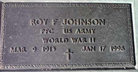 JOHNSON, ROY F. (MILITARY) - Deuel County, South Dakota | ROY F. (MILITARY) JOHNSON - South Dakota Gravestone Photos