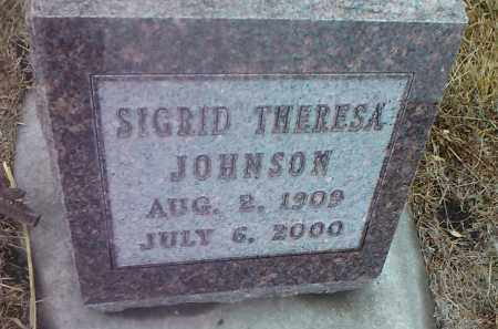 JOHNSON, SIGRID THERESA - Deuel County, South Dakota | SIGRID THERESA JOHNSON - South Dakota Gravestone Photos