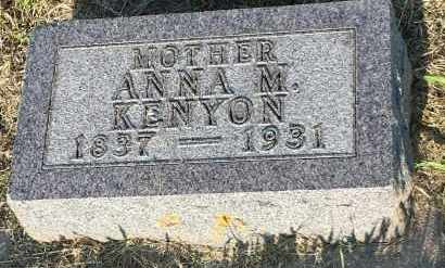 KENYON, ANNA M - Deuel County, South Dakota | ANNA M KENYON - South Dakota Gravestone Photos