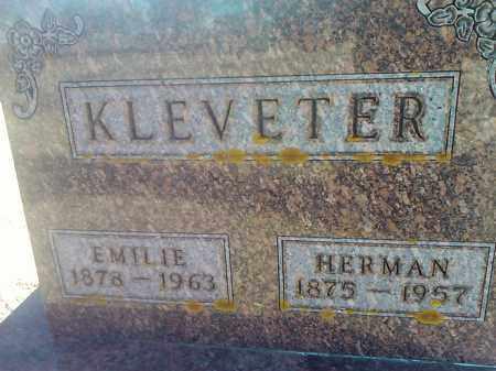 KLEVETER, EMILIE - Deuel County, South Dakota | EMILIE KLEVETER - South Dakota Gravestone Photos