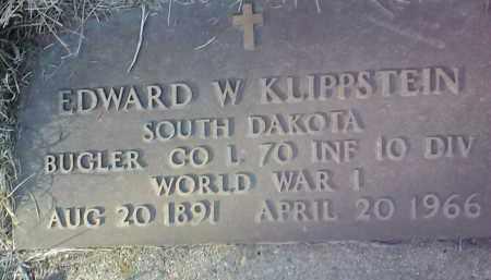 KLIPPSTEIN, EDWARD W. (MILITARY) - Deuel County, South Dakota | EDWARD W. (MILITARY) KLIPPSTEIN - South Dakota Gravestone Photos