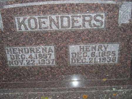 KOENDERS, HENRY - Deuel County, South Dakota | HENRY KOENDERS - South Dakota Gravestone Photos