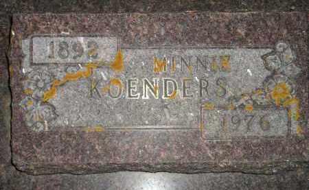 KOENDERS, MINNIE - Deuel County, South Dakota   MINNIE KOENDERS - South Dakota Gravestone Photos