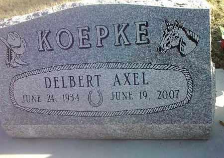 KOEPKE, DELBERT AXEL - Deuel County, South Dakota | DELBERT AXEL KOEPKE - South Dakota Gravestone Photos