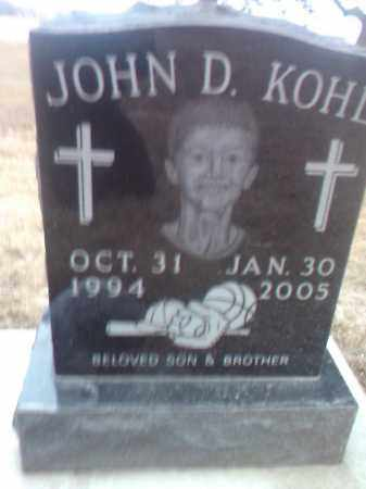 KOHL, JOHN D. - Deuel County, South Dakota | JOHN D. KOHL - South Dakota Gravestone Photos