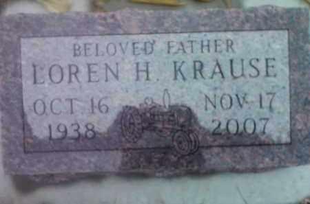 KRAUSE, LOREN H. - Deuel County, South Dakota | LOREN H. KRAUSE - South Dakota Gravestone Photos