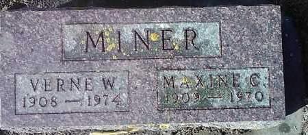 MINER, MAXINE C. - Deuel County, South Dakota | MAXINE C. MINER - South Dakota Gravestone Photos