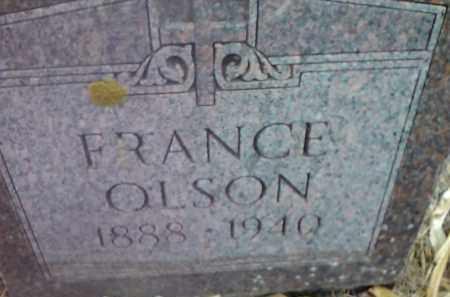 OLSON, FRANCE - Deuel County, South Dakota   FRANCE OLSON - South Dakota Gravestone Photos
