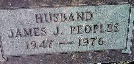 PEOPLES, JAMES J. - Deuel County, South Dakota | JAMES J. PEOPLES - South Dakota Gravestone Photos