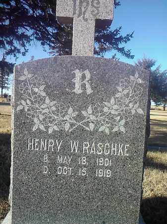 RASCHKE, HENRY W. - Deuel County, South Dakota | HENRY W. RASCHKE - South Dakota Gravestone Photos