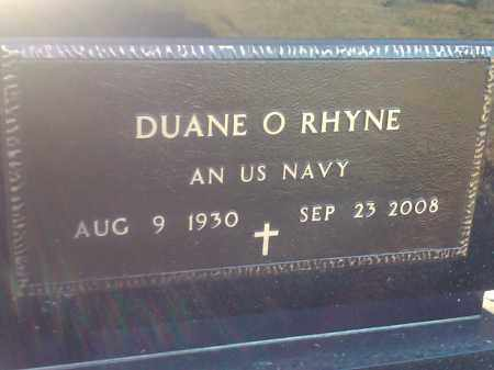 RHYNE, DUANE O - Deuel County, South Dakota   DUANE O RHYNE - South Dakota Gravestone Photos