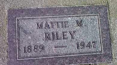 RILEY, MATTIE M. - Deuel County, South Dakota | MATTIE M. RILEY - South Dakota Gravestone Photos