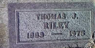 RILEY, THOMAS J. - Deuel County, South Dakota   THOMAS J. RILEY - South Dakota Gravestone Photos