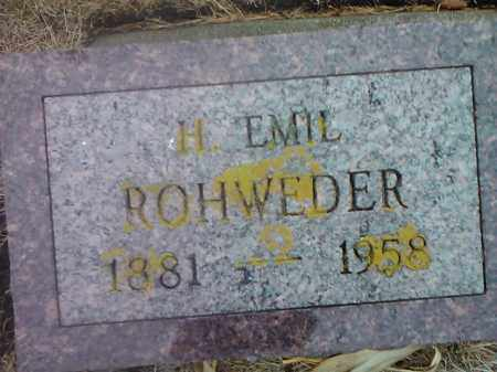 ROHWEDER, H. EMIL - Deuel County, South Dakota | H. EMIL ROHWEDER - South Dakota Gravestone Photos